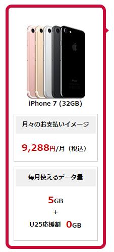 ドコモでiPhone7を購入した場合のトータル料金シミュレーション結果
