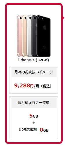 2年縛り有りでiPhone732GBをドコモで契約したときの料金
