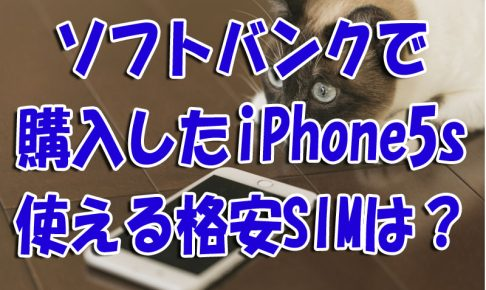 ソフトバンク購入のiPhone5s