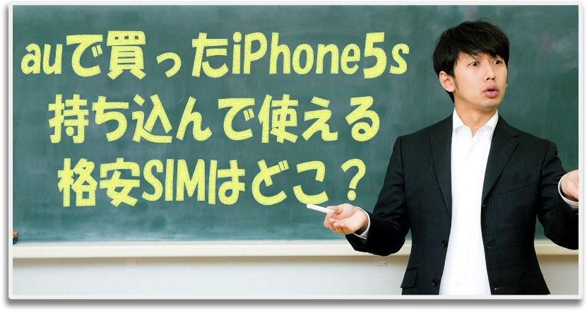 auで購入したiPhone5sを持ち込んで使える格安SIM