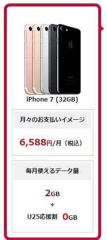 iPhone7をドコモで購入したときのトータル月額料金