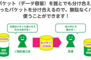 mineoのパケットギフト説明図