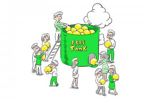 mineoのフリータンクのイメージ図