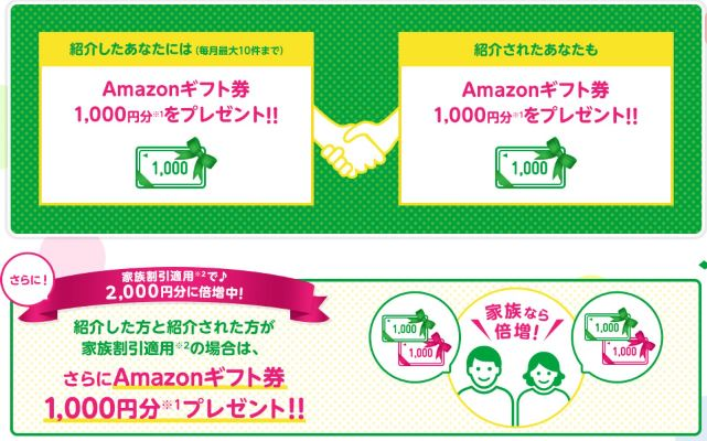 mineoの紹介キャンペーンは5月31日まで家族紹介で特典のAmazonギフトが倍増に!