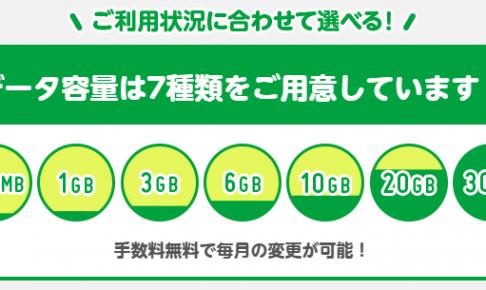 mineoに20GBと30GBの大容量プランが6月1日から登場!
