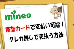 mineoは家族カードで支払い可能!クレカ無しで支払う方法