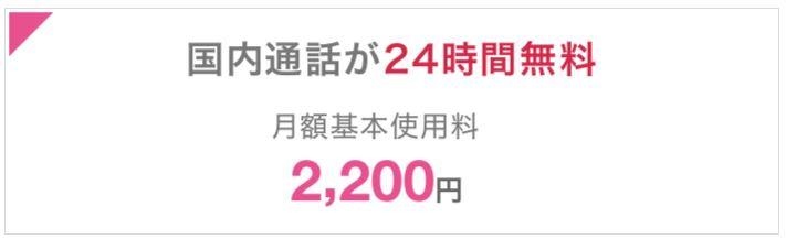 ドコモのガラケー向けカケホーダイプランは月額料金2200円~
