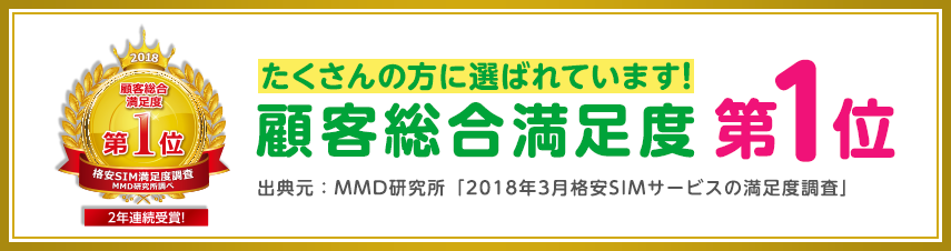 mineoは2年連続でユーザー満足度No1の格安SIM