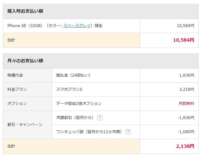 ワイモバイルでiPhoneSEが実質9800円