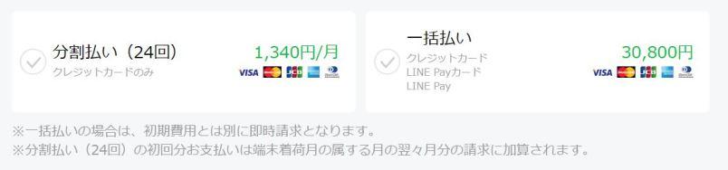iPhoneSEの端末代金の分割購入はクレカのみ!一括払いはどれでも大丈夫!
