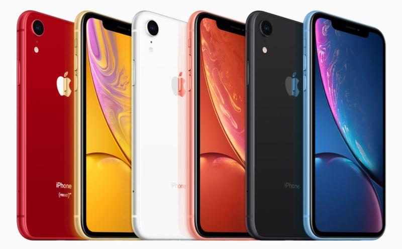 iPhoneXRの6色のカラーバリエーション