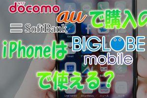 ドコモauソフトバンクで購入したiPhoneはBIGLOBEモバイルで使える?