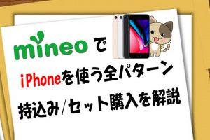 mineoでiPhoneを使う全パターン!持込みとセット購入を解説