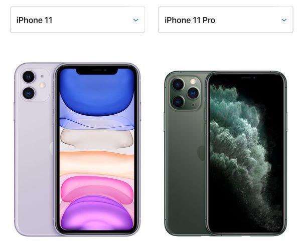 iPhone11とiPhon11Proのサイズとレンズの違い