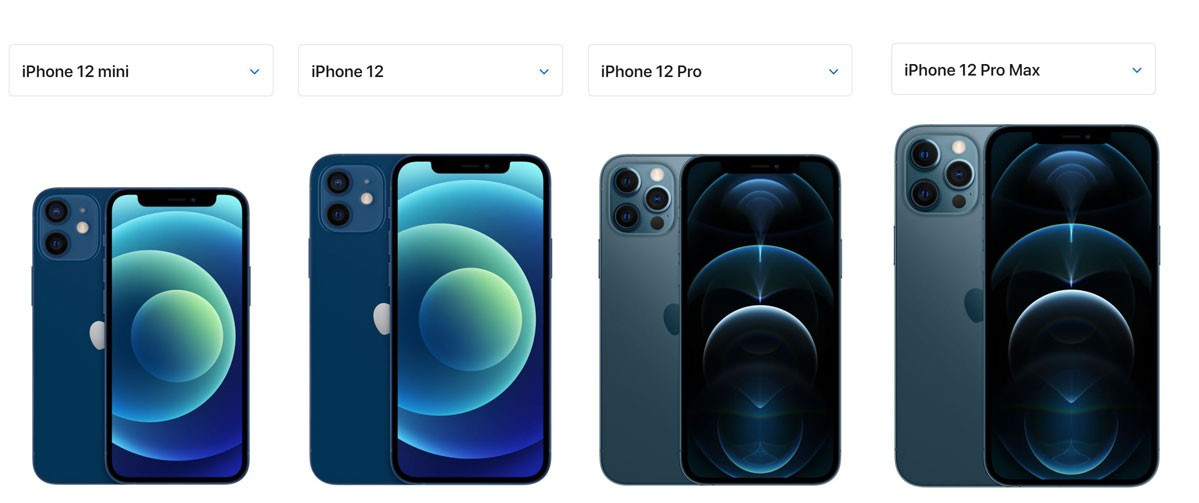 iPhone12Mini&iPhone12&iPhone12Pro&iPhoneProMAXの見た目とサイズの違い