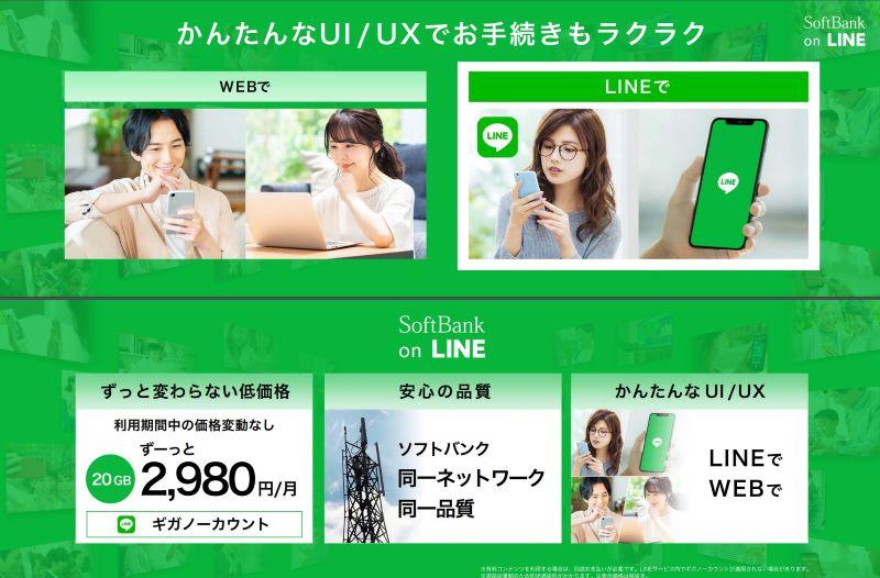 「SoftBank on LINE」のプラン内容_2